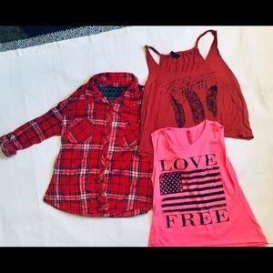 Women's Shirts Lot Of 3 Size Small